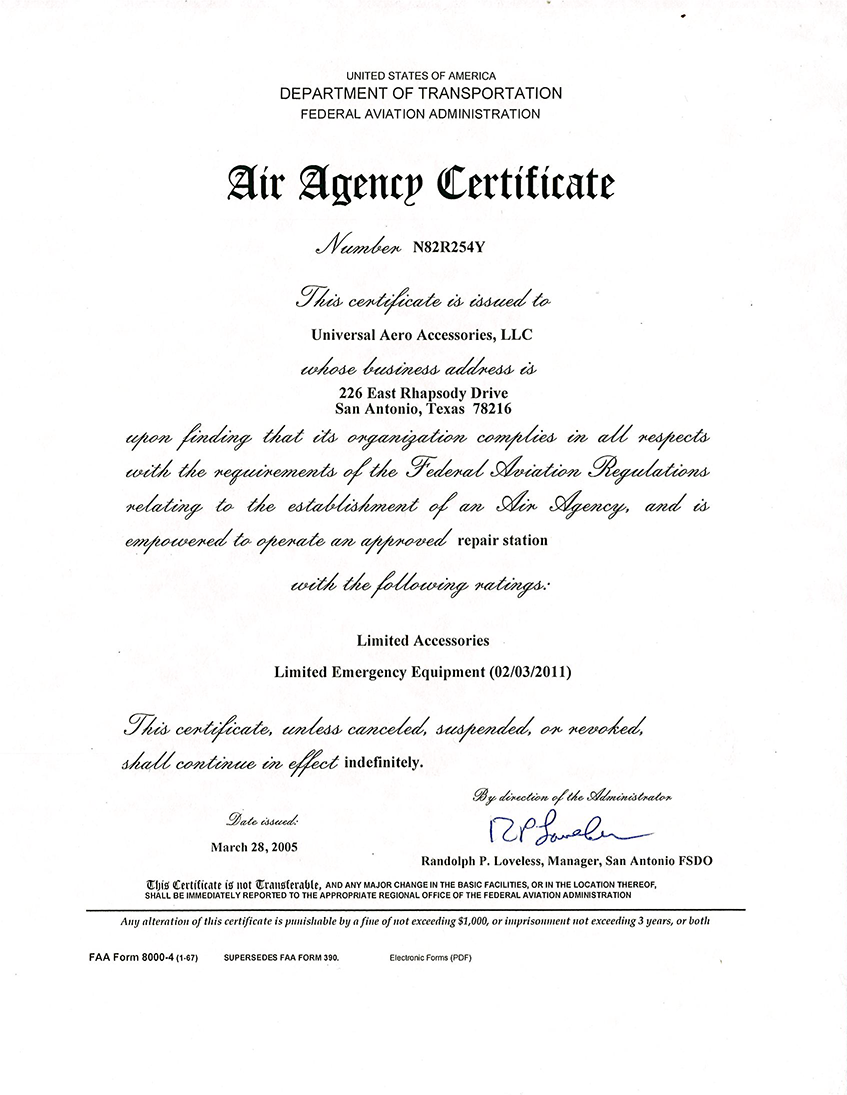 air-agency-certificate